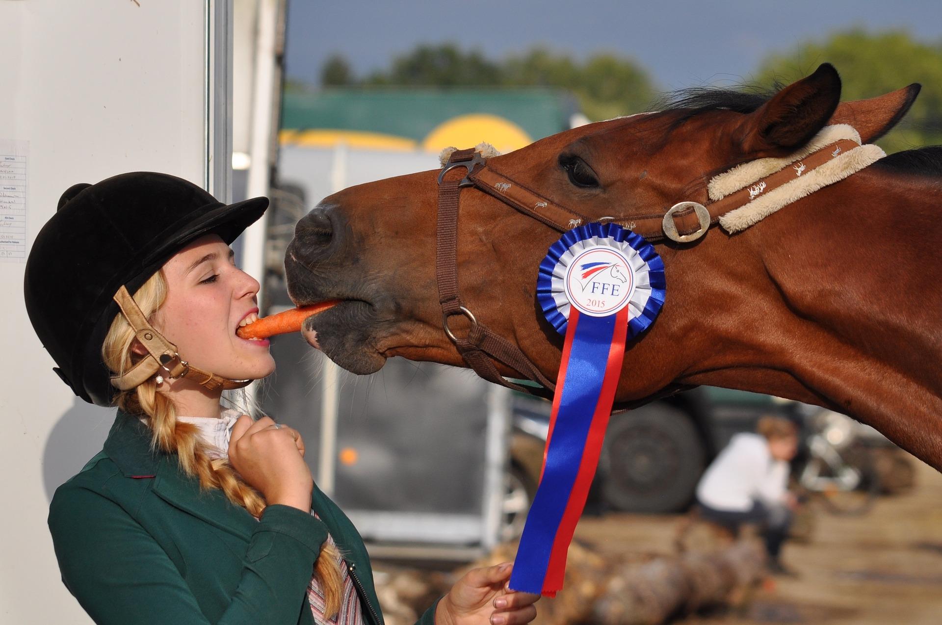 Horse rider shared after winning match