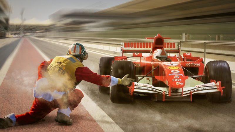 Adham finally won the final lap of car race