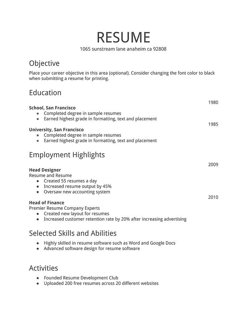 Resume Examples Are Very Important