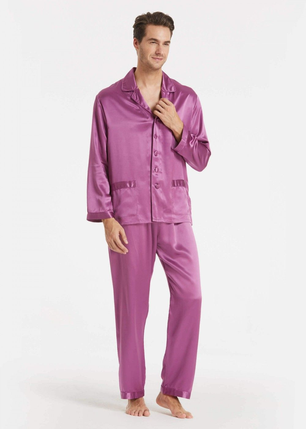 Mens Silk Pajamas Over Cotton And Flannel
