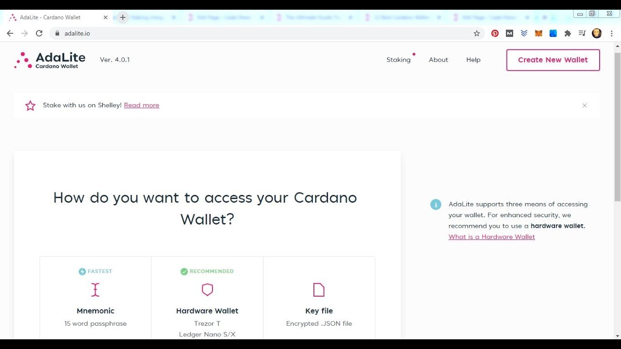 Outstanding features make the ada cardano web wallet very popular